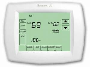 New Honeywell Th Vision Pro 7 Day Programmable Thermostat White Touch Screen