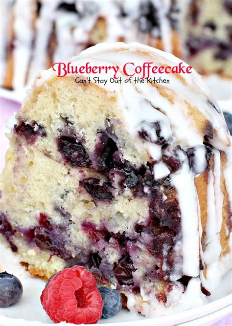 How to make blueberry crumble coffee cake: Blueberry Crumb Coffee Cake - Can't Stay Out of the Kitchen
