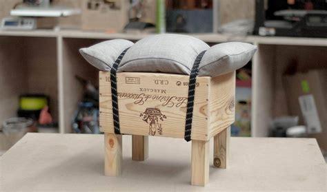 Fabriquer Un Tabouret En Bois by Diy Tuto Fabriquer Un Tabouret Design Avec Une Caisse