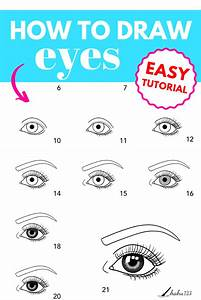 How To Draw Eyes Tutorial Pin In 2020