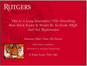 rutgers powerpoint template beamer can i specify title With rutgers powerpoint template