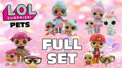 stop motion lol surprise pets full set complete family