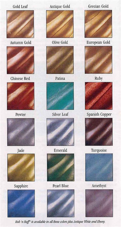 buff color brush n leaf and rub n buff colour chart for gold leaf