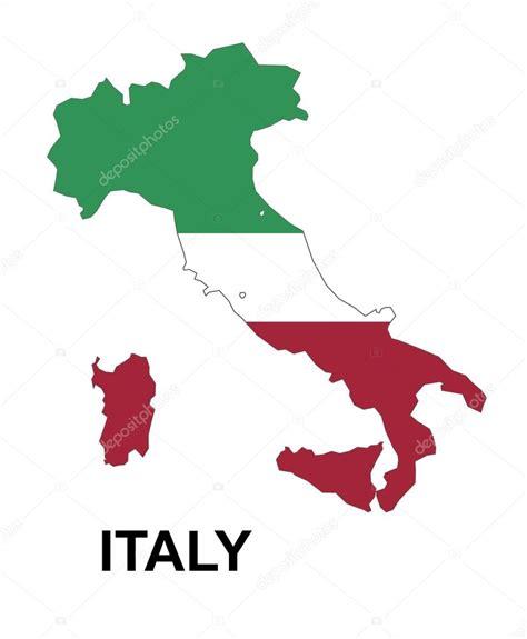 italy italien landkarte flagge aufkleber mapa włoch z flagą wewnątrz wektor włochy mapa mapa ital