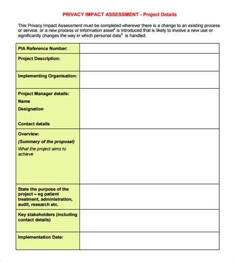 impact analysis template 9 sle impact assessment templates sle templates