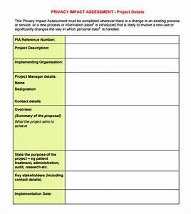 9 sample impact assessment templates sample templates for Privacy impact assessment template