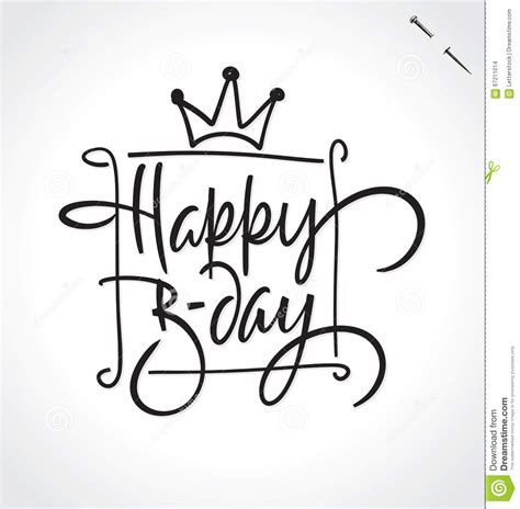 happy birthday lettering handmade calligraphy happy birthday lettering vector stock vector 84771