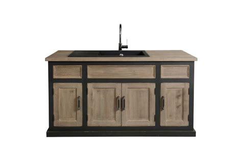 meuble cuisine evier meuble de cuisine avec évier contemporain chic 155x90x65 cm anthrac