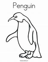 Coloring Penguin Pages Popular sketch template