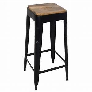 Tabouret Haut En Bois : tabouret bar metal et bois design en image ~ Teatrodelosmanantiales.com Idées de Décoration