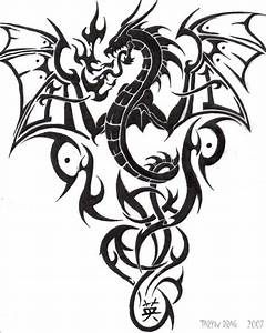 23 best Japanese Dragon Tribal Tattoo images on Pinterest ...