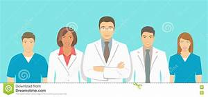 Medical Clinic Doctors Team Vector Flat Illustration Stock ...