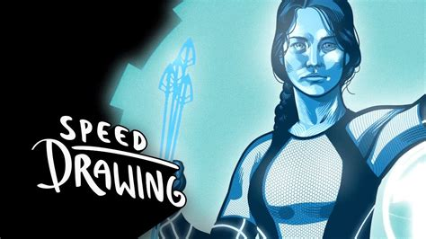 Speed Drawing: The Hunger Games: Catching Fire Katniss