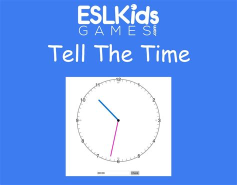 Tell The Time - ESL Kids Games