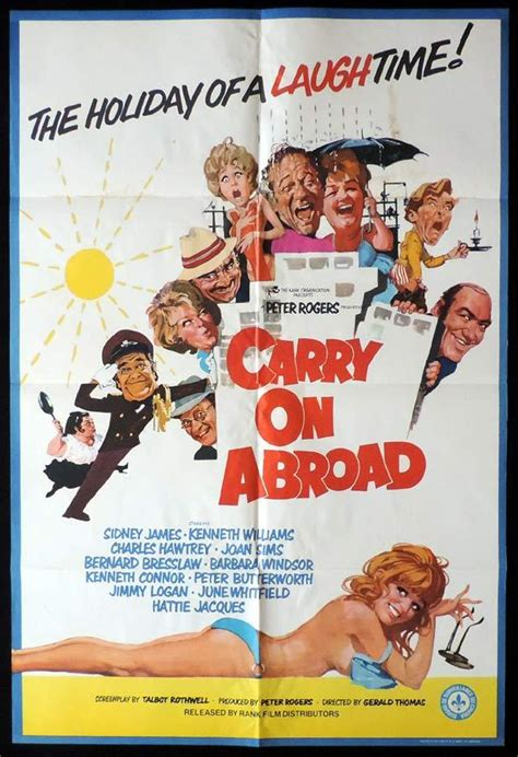 CARRY ON ABROAD British One sheet Movie poster Did James ...