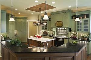 Soapstone counters viable option for kitchen for Best brand of paint for kitchen cabinets with wall art for staging