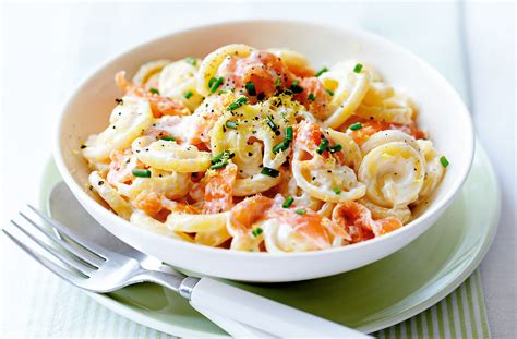 and recipe smoked salmon pasta pasta recipe tesco real food