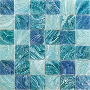Splashback tile aqua blue sky mesh mounted squares 11 3 4 for Blue sky bathroom tile floor decoration