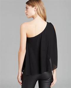 L Agence Size Chart Alice Alice Top One Shoulder Ruffle In