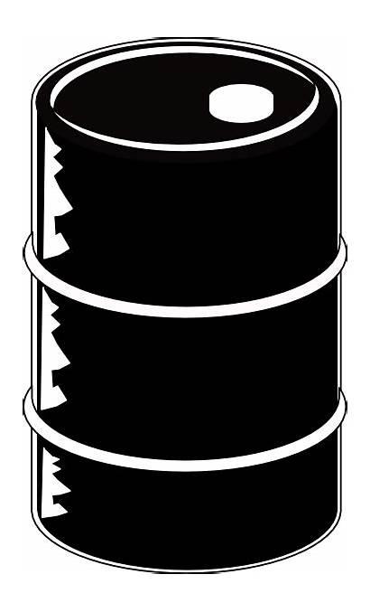 Barrel Oil Clip Clipart Crude Drums Vector