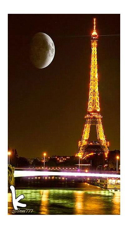 Eiffel Tower Paris France Night Gifs Animated