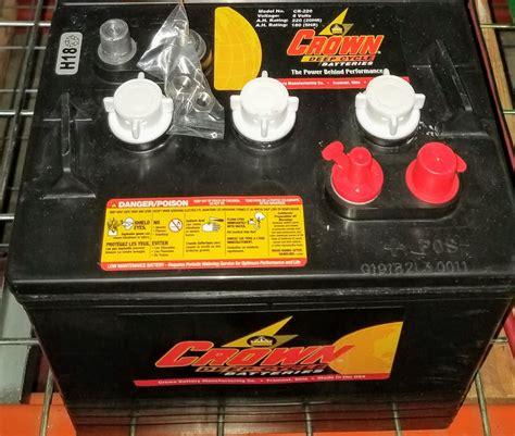 crown cr220 6v volt cycle golf cart marine solar and rv batteries