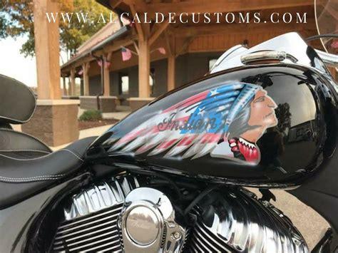 black custom painted indian springfield motorcycle