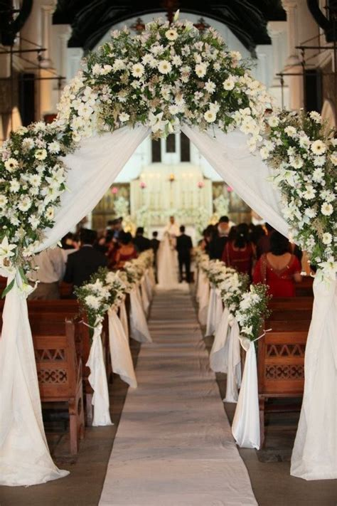 ideas  church wedding decorations