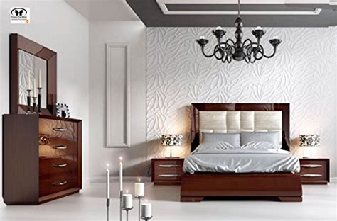 modern contemporary king  queen size bed set