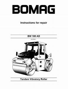 Bomag Bw 180 Ad Tandem Vibratory Roller Instructions For