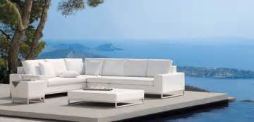 Decorative Couch Pillows Canada by Outdoor Lux White Sofa Modern Patio Furniture And