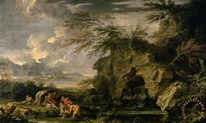 Salvator Rosa The Finding of Moses painting - The Finding ...