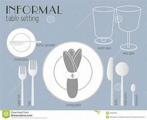 Informal Table Setting Stock Vector