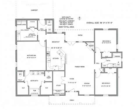 3 Bedroom House Plans Pics Archives