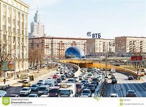 Urban Traffic On Leningradskoye Highway In Spring ...