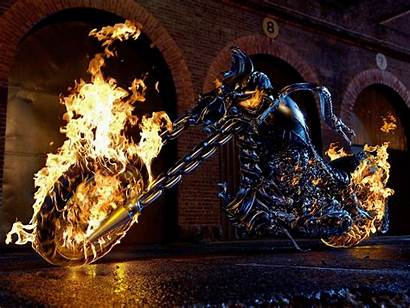 Rider Ghost Bike Wallpapers Fire Cave