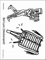 Glockenspiel Coloring Abcteach sketch template
