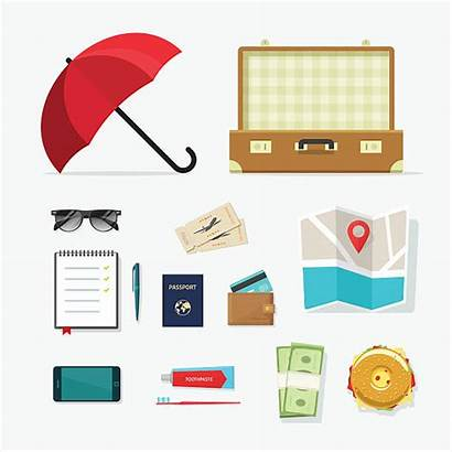 Travel Things Items Journey Travelling Planning Vector
