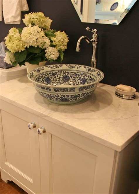 happy french country retreat   Traditional   Powder Room