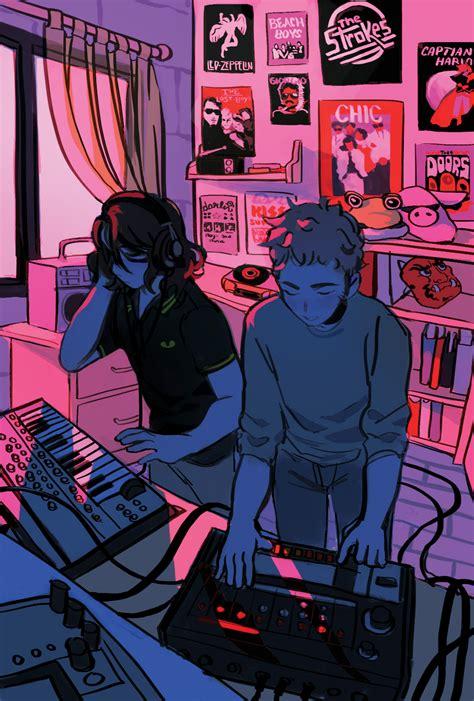 ArtStation - Daft Punk Zine Illustration, Jacqueline ...