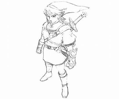 Coloring Link Pages Zelda Legend Character Toon