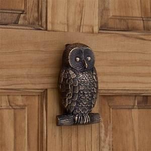 Owl, Brass, Door, Knocker