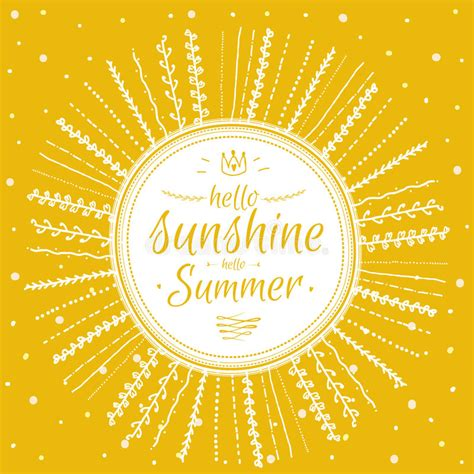 summer card  cute sun  motivational stock vector
