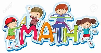 Math Word Clipart Vector Happy Mathematics Background