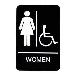 Handicap Women Restroom Sign