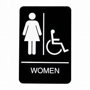 women handicap restroom sign With bathroom signa