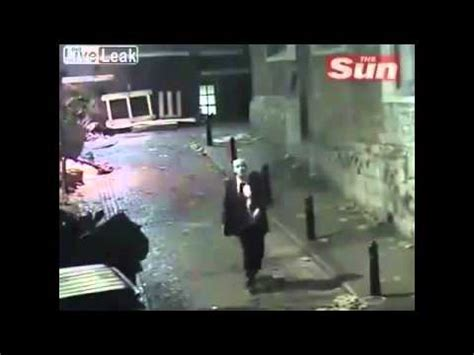 Drunken man staggers through London YouTube