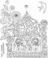 Coloring Explosion Pages Folk Cookie Adult Mexican Sheets Architect Swiss Template Books Tile Sun Designlooter Drawings 81kb Cartoon sketch template