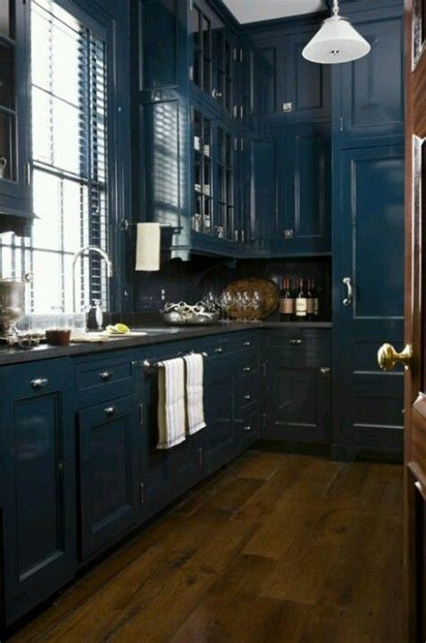 blue kitchen floor floor to ceiling cabinetry blue kitchen some 1734