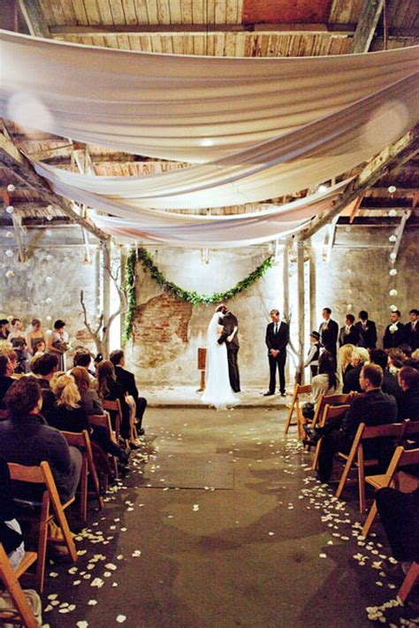 wedding trends  loft wedding